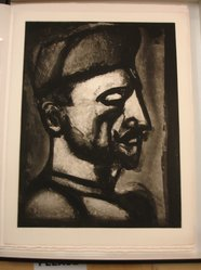 Georges Rouault (French, 1871-1958). <em>Dura Lex sed Lex.</em>, 1926. Etching, aquatint, and heliogravure on laid Arches paper, 22 9/16 x 17 1/8 in. (57.3 x 43.5 cm). Brooklyn Museum, Frank L. Babbott Fund, 50.15.52. © artist or artist's estate (Photo: Brooklyn Museum, CUR.50.15.52.jpg)