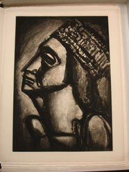 Georges Rouault (French, 1871-1958). <em>Vierge Aux Sept Glaives.</em>, 1926. Etching, aquatint, and heliogravure on laid Arches paper, 23 x 16 1/8 in. (58.4 x 40.9 cm). Brooklyn Museum, Frank L. Babbott Fund, 50.15.53. © artist or artist's estate (Photo: Brooklyn Museum, CUR.50.15.53.jpg)