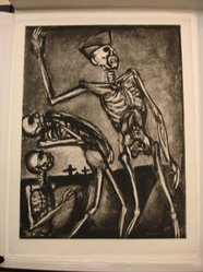 """Georges Rouault (French, 1871-1958). <em>""""Debout les Morts!,""""</em> 1927. Etching, aquatint, and heliogravure on laid Arches paper, 23 1/4 x 17 9/16 in. (59.1 x 44.6 cm). Brooklyn Museum, Frank L. Babbott Fund, 50.15.54. © artist or artist's estate (Photo: Brooklyn Museum, CUR.50.15.54.jpg)"""