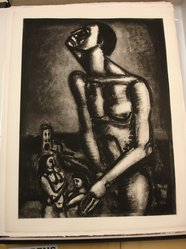 Georges Rouault (French, 1871-1958). <em>Ne Sommes-Nous pas Forçats</em>, 1926. Etching, aquatint, and heliogravure on laid Arches paper, 23 1/4 x 17 3/16 in. (59.1 x 43.7 cm). Brooklyn Museum, Frank L. Babbott Fund, 50.15.6. © artist or artist's estate (Photo: Brooklyn Museum, CUR.50.15.6.jpg)