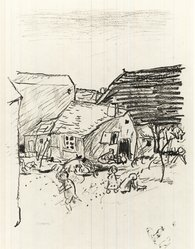 "Pierre Bonnard (French, 1867-1947). <em>Landscape. Illustration for ""La Vie de Sainte Monique,""</em> 1924. Etching on laid paper, Plate: 11 1/4 x 9 in. (28.5 x 22.8 cm). Brooklyn Museum, Frederick Loeser Fund, 50.164.3. © artist or artist's estate (Photo: Brooklyn Museum, CUR.50.164.3.jpg)"