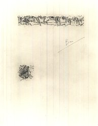 "Pierre Bonnard (French, 1867-1947). <em>Page with Vignettes. Illustration for ""La Vie de Sainte Monique,""</em> 1930. Etching on laid paper, Sheet: 14 7/8 x 10 7/8 in. (37.8 x 27.6 cm). Brooklyn Museum, Frederick Loeser Fund, 50.164.4. © artist or artist's estate (Photo: Brooklyn Museum, CUR.50.164.4.jpg)"