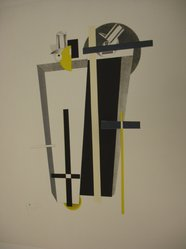 El Lissitzky (Russian, 1890-1941). <em>Grave Diggers (Tolemgräber)</em>, 1923. Lithograph on heavy wove paper, 14 11/16 x 9 5/8 in. (37.3 x 24.5 cm). Brooklyn Museum, By exchange, 50.191.9. © artist or artist's estate (Photo: Brooklyn Museum, CUR.50.191.9.jpg)