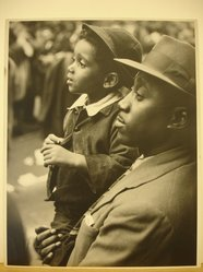Clemens Kalischer (American, born Germany, 1921-2018). <em>Negro Father and Son</em>, 1951. Photograph Brooklyn Museum, Gift of the artist, 53.155.4. © artist or artist's estate (Photo: Brooklyn Museum, CUR.53.155.4.jpg)