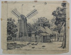 Samuel L. Margolies (American, 1897-1978). <em>John Howard Payne - Home Sweet Home</em>, n.d. Graphite on paper, sheet: 10 x 12 5/8 in. (25.4 x 32.1 cm). Brooklyn Museum, Gift of Associated American Artists, 54.178.3. © artist or artist's estate (Photo: Brooklyn Museum, CUR.54.178.3.jpg)