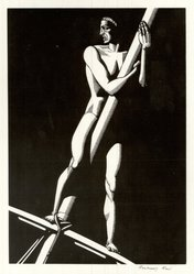 Rockwell Kent (American, 1882-1971). <em>The Lookout</em>, 1930. Wood engraving on maple, white wove paper, 8 x 5 1/2 in. (20.3 x 14 cm). Brooklyn Museum, Gift of Erhart Weyhe, 56.4.27. © artist or artist's estate (Photo: Brooklyn Museum, CUR.56.4.27.jpg)