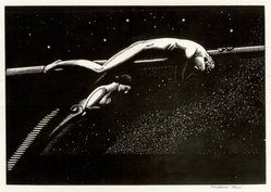 Rockwell Kent (American, 1882-1971). <em>Over the Ultimate</em>, 1926. Wood engraving on maple, white wove paper, 5 1/2 x 8 in. (14 x 20.3 cm). Brooklyn Museum, Gift of Erhart Weyhe, 56.4.28. © artist or artist's estate (Photo: Brooklyn Museum, CUR.56.4.28.jpg)