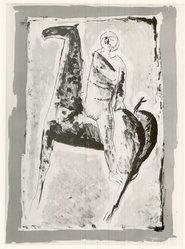 Marino Marini (Italian, 1901-1980). <em>Le Cavalier</em>, 1955. Lithograph, image: 25 1/2 x 18 in. (64.8 x 45.7 cm). Brooklyn Museum, Charles Stewart Smith Memorial Fund, 57.186.2. © artist or artist's estate (Photo: Brooklyn Museum, CUR.57.186.2.jpg)