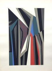 Alberto Moretti (Italian, born 1922). <em>Arte Astratta</em>, 1955. Serigraph on wove paper, Sheet: 25 3/16 x 19 1/4 in. (64 x 48.9 cm). Brooklyn Museum, Carll H. de Silver Fund, 57.192.11. © artist or artist's estate (Photo: Brooklyn Museum, CUR.57.192.11.jpg)