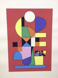Atanasio Soldati (Italian, 1896-1953). <em>Arte Astratta</em>, 1955. Serigraph on paper, sheet: 25 3/16 x 19 1/4 in. (64 x 48.9 cm). Brooklyn Museum, Carll H. de Silver Fund, 57.192.14. © artist or artist's estate (Photo: Brooklyn Museum, CUR.57.192.14.jpg)