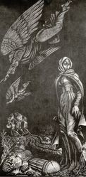 "Fritz Eichenberg (American, 1901-1990). <em>""And She Became a Pillar of Salt,""</em> ca. 1956. Wood engraving on cream-colored wove paper, Sheet: 16 1/8 x 9 3/8 in. (41 x 23.8 cm). Brooklyn Museum, Gift of Fritz Eichenberg, 57.47.1.4. © artist or artist's estate (Photo: Brooklyn Museum, CUR.57.47.1.4.jpg)"