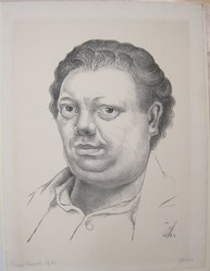 Diego Rivera (Mexican, 1886-1957). <em>Self Portrait</em>, 1930. Lithograph on paper, sheet: 20 1/8 x 14 15/16 in. (51.1 x 38 cm). Brooklyn Museum, Caroline A.L. Pratt Fund, 59.15.9. © artist or artist's estate (Photo: Brooklyn Museum, CUR.59.15.9.jpg)