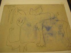 Joan Miró (Spanish, 1893-1983). <em>Figures</em>. Watercolor Brooklyn Museum, Frederick Loeser Fund, 59.49. © artist or artist's estate (Photo: Brooklyn Museum, CUR.59.49.jpg)