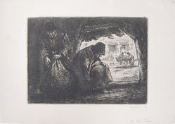 Eugene Higgins (American, 1874-1958). <em>The Rag Pickers</em>, n.d. Etching on paper, Sheet: 7 3/4 x 11 1/16 in. (19.7 x 28.1 cm). Brooklyn Museum, Gift of Mrs. Joseph B. Murray, 61.172.5. © artist or artist's estate (Photo: Brooklyn Museum, CUR.61.172.5.jpg)