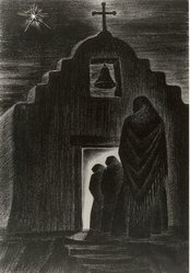 Arnold Ronnebeck (American, 1885-1947). <em>Adeste Fidelis</em>, 1937. Lithograph on wove paper, Sheet: 15 7/8 x 11 7/8 in. (40.3 x 30.2 cm). Brooklyn Museum, Dick S. Ramsay Fund, 61.216.10. © artist or artist's estate (Photo: Brooklyn Museum, CUR.61.216.10.jpg)