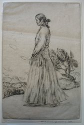 Mahonri M. Young (American, 1877-1957). <em>Navajo Woman</em>, n.d. Drypoint on paper, sheet: 9 3/16 x 6 1/8 in. (23.3 x 15.6 cm). Brooklyn Museum, Dick S. Ramsay Fund, 61.216.8. © artist or artist's estate (Photo: Brooklyn Museum, CUR.61.216.8.jpg)