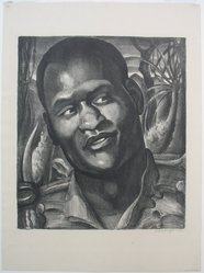 Mabel Dwight (American, 1876-1955). <em>Paul Robeson as Emperor Jones</em>, 1930. Lithograph on wove paper, Sheet: 20 11/16 x 15 7/16 in. (52.5 x 39.2 cm). Brooklyn Museum, Gift of The Louis E. Stern Foundation, Inc., 64.101.155. © artist or artist's estate (Photo: Brooklyn Museum, CUR.64.101.155.jpg)