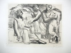 Pablo Picasso (Spanish, 1881-1973). <em>La Source</em>, 1921. Dry point and engraving on zinc printed on laid paper, Sheet: 17 3/4 x 13 1/2 in. (45.1 x 34.3 cm). Brooklyn Museum, Gift of The Louis E. Stern Foundation, Inc., 64.101.293. © artist or artist's estate (Photo: Brooklyn Museum, CUR.64.101.293.jpg)
