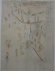 Peter Takal (American, born Romania, 1905-1995). <em>Untitled</em>, n.d. Ink and crayon on paper, Sheet: 14 9/16 x 11 in. (37 x 27.9 cm). Brooklyn Museum, Gift of Katharine Kuh, 66.201.10. © artist or artist's estate (Photo: Brooklyn Museum, CUR.66.201.10.jpg)