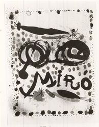 Joan Miró (Spanish, 1893-1983). <em>Untitled Poster</em>. Lithograph in Five Colors, 27 1/4 x 20 15/16 in. (69.2 x 53.2 cm). Brooklyn Museum, Gift of Barry R. Peril, 66.202. © artist or artist's estate (Photo: Brooklyn Museum, CUR.66.202.jpg)