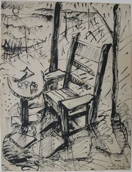 Beulah Stevenson (American, 1875-1965). <em>My Place</em>, March 1943. Ink on paper, sheet: 9 x 6 15/16 in. (22.9 x 17.6 cm). Brooklyn Museum, Gift of Miriam Eaton, 66.36.4. © artist or artist's estate (Photo: Brooklyn Museum, CUR.66.36.4.jpg)