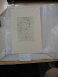 Harold Weston (American, 1894-1972). <em>Poet</em>, 1928. Engraving on laid paper, sheet: 11 1/4 x 7 3/8 in. (28.5 x 18.7 cm). Brooklyn Museum, Gift of the artist, 66.40.3. © artist or artist's estate (Photo: Brooklyn Museum, CUR.66.40.3.jpg)