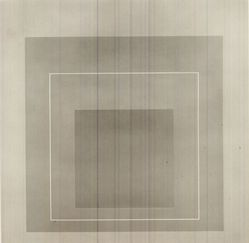 Josef Albers (American, 1888-1976). <em>White Line Squares- VI</em>, 1966. Color lithographs on wove Arches paper, Sheet: 20 3/4 x 20 3/4 in. (52.7 x 52.7 cm). Brooklyn Museum, Gift of the artist, 67.184.16. © artist or artist's estate (Photo: Brooklyn Museum, CUR.67.184.16.jpg)