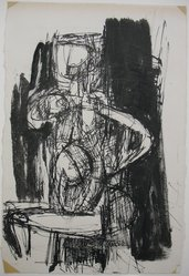 Samuel Adler (American, 1898-1979). <em>Figure</em>, ca. 1961-1966. Ink on paper, sheet: 11 5/8 x 7 7/8 in. (29.5 x 20 cm). Brooklyn Museum, Gift of Colette Roberts, 67.244. © artist or artist's estate (Photo: Brooklyn Museum, CUR.67.244.jpg)