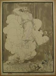 Jay Darling (American, 1876-1962). <em>Lest We Forget</em>, 1945. Ink with Benday Tone on heavy paper, sheet: 24 3/8 x 17 9/16 in. (61.9 x 44.6 cm). Brooklyn Museum, Gift of Mrs. Harold J. Baily, 67.62.15. © artist or artist's estate (Photo: Brooklyn Museum, CUR.67.62.15_recto.jpg)