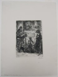 John Sloan (American, 1871-1951). <em>Entrance to the Bandits Cave</em>, 1920. Etching on wove paper, mat: 19 1/8 x 14 5/16 in. (48.6 x 36.3 cm). Brooklyn Museum, Gift of Mrs. Edwin De T. Bechtel, 68.192.44. © artist or artist's estate (Photo: Brooklyn Museum, CUR.68.192.44.jpg)