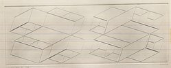 Josef Albers (American, 1888-1976). <em>Intaglio Duo B</em>, 1958. Color lithograph on wove Arches paper, 5 x 13 1/2 in. (12.7 x 34.3 cm). Brooklyn Museum, Gift of the artist, 68.54.17. © artist or artist's estate (Photo: Brooklyn Museum, CUR.68.54.17.jpg)