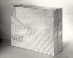 Ed O'Connell (American). <em>White Out</em>, 1969. Serigraph on plastic box, 16 1/4 x 20 x 7 in. (41.3 x 50.8 x 17.8 cm). Brooklyn Museum, Bristol-Myers Fund, 69.137. © artist or artist's estate (Photo: Brooklyn Museum, CUR.69.137.jpg)