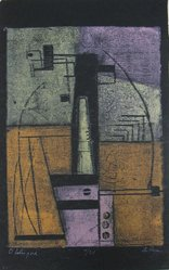 Anne Ryan (American, 1889-1954). <em>Obelisque</em>, 1947. Woodcut on paper, sheet: 14 5/8 x 9 1/8 in. (37.1 x 23.2 cm). Brooklyn Museum, Anonymous gift, 78.15.2. © artist or artist's estate (Photo: Brooklyn Museum, CUR.78.15.2.jpg)