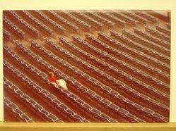 Sigmund  T. Meyers (American, 1923-2006). <em>The Spectator</em>, 1974. Cibachrome print, 9 1/2 × 14 in. (24.1 × 35.6 cm). Brooklyn Museum, Gift of the artist, 79.309.10. © artist or artist's estate (Photo: Brooklyn Museum, CUR.79.309.10.jpg)