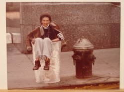 Sigmund  T. Meyers (American, 1923-2006). <em>Lady in Trash Barrel</em>, 1977. Cibachrome print, 11 × 14 in. (27.9 × 35.6 cm). Brooklyn Museum, Gift of the artist, 79.309.13. © artist or artist's estate (Photo: Brooklyn Museum, CUR.79.309.13.jpg)