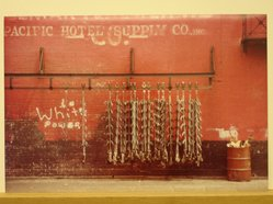 Sigmund  T. Meyers (American, 1923-2006). <em>Meat Hooks</em>, 1974. Cibachrome print, 9 3/8 × 14 in. (23.8 × 35.6 cm). Brooklyn Museum, Gift of the artist, 79.309.8. © artist or artist's estate (Photo: Brooklyn Museum, CUR.79.309.8.jpg)