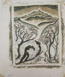 Julia Mavrogordato (British, 1903-1992). <em>North Wind</em>, ca. 1930. Linocut on paper, sheet: 10 11/16 x 9 in. (27.1 x 22.8 cm). Brooklyn Museum, Designated Purchase Fund, 80.146.4. © artist or artist's estate (Photo: Brooklyn Museum, CUR.80.146.4.jpg)