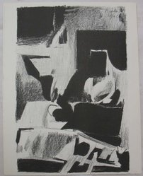 Janice Biala (American, 1903-2000). <em>Interior</em>, 1963. Lithograph on paper, Sheet: 12 3/4 x 10 in. (32.4 x 25.4 cm). Brooklyn Museum, Anonymous gift, 80.209.11. © artist or artist's estate (Photo: Brooklyn Museum, CUR.80.209.11.jpg)