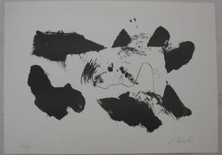 James Brooks (American, 1906-1992). <em>Black and White</em>, 1961. Lithograph on paper, Sheet: 10 1/16 x 13 15/16 in. (25.5 x 35.4 cm). Brooklyn Museum, Anonymous gift, 80.209.14. © artist or artist's estate (Photo: Brooklyn Museum, CUR.80.209.14.jpg)