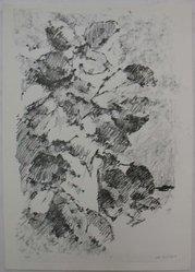 Joel Goldblatt (American). <em>Dark Still-Life</em>, 1960. Lithograph on white laid paper, Sheet: 13 15/16 x 9 15/16 in. (35.4 x 25.3 cm). Brooklyn Museum, Anonymous gift, 80.209.36. © artist or artist's estate (Photo: Brooklyn Museum, CUR.80.209.36.jpg)