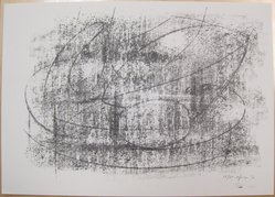 Bernard Pfriem (American, 1916-1996). <em>Rubbing #3</em>, 1961. Lithograph on wove paper, Sheet: 10 1/16 x 14 in. (25.6 x 35.6 cm). Brooklyn Museum, Anonymous gift, 80.209.83. © artist or artist's estate (Photo: Brooklyn Museum, CUR.80.209.83.jpg)