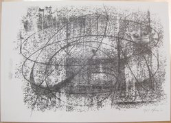 Bernard Pfriem (American, 1916-1996). <em>Rubbing #4</em>, 1961. Lithograph on wove paper, Sheet: 10 1/16 x 14 in. (25.6 x 35.6 cm). Brooklyn Museum, Anonymous gift, 80.209.84. © artist or artist's estate (Photo: Brooklyn Museum, CUR.80.209.84.jpg)