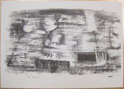 Bernard Pfriem (American, 1916-1996). <em>Rubbing #5</em>, 1961. Lithograph on wove paper, Sheet: 10 1/16 x 14 in. (25.6 x 35.6 cm). Brooklyn Museum, Anonymous gift, 80.209.85. © artist or artist's estate (Photo: Brooklyn Museum, CUR.80.209.85.jpg)