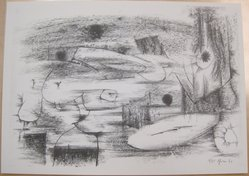 Bernard Pfriem (American, 1916-1996). <em>Rubbing #6</em>, 1961. Lithograph on wove paper, Sheet: 10 1/16 x 14 in. (25.6 x 35.6 cm). Brooklyn Museum, Anonymous gift, 80.209.86. © artist or artist's estate (Photo: Brooklyn Museum, CUR.80.209.86.jpg)