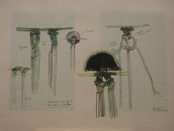 Ronald King (British, born 1932). <em>Cangaceiro Hanging</em>. Screenprint, ink, 15 x 20 in. (38.1 x 50.8 cm). Brooklyn Museum, Gift of Jerome Singer, 80.232.1k. © artist or artist's estate (Photo: Brooklyn Museum, CUR.80.232.1k.jpg)