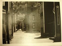 Donald Burns (American, 1919-1989). <em>Alley in Johnstown, Pennsylvania</em>, May 6, 1979. Gelatin silver photograph, image: 6 7/8 x 9 5/8 in. (17.5 x 24.4 cm). Brooklyn Museum, Gift of the artist, 81.140.1. © artist or artist's estate (Photo: Brooklyn Museum, CUR.81.140.1.jpg)