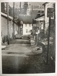 Donald Burns (American, 1919-1989). <em>Alley in South Bethlehem, Pennsylvania</em>, April 1, 1978. Gelatin silver photograph, image: 9 1/2 x 7 1/4 in. (24.1 x 18.4 cm). Brooklyn Museum, Gift of the artist, 81.140.8. © artist or artist's estate (Photo: Brooklyn Museum, CUR.81.140.8.jpg)