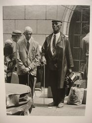 Sidney Kerner (American, 1920-2013). <em>Blind Man (N.Y.C.)</em>, 1971. Gelatin silver photograph, sheet: 14 × 11 in. (35.6 × 27.9 cm). Brooklyn Museum, Gift of Anna Bisso, 81.147.2. © artist or artist's estate (Photo: Brooklyn Museum, CUR.81.147.2.jpg)