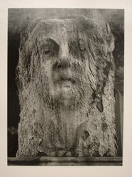 Sidney Kerner (American, 1920-2013). <em>Stone Face (N.Y.C)</em>, 1972. Gelatin silver photograph, sheet: 14 1/8 × 10 7/8 in. (35.9 × 27.6 cm). Brooklyn Museum, Gift of Anna Bisso, 81.147.3. © artist or artist's estate (Photo: Brooklyn Museum, CUR.81.147.3.jpg)