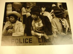 Dawoud Bey (American, born 1953). <em>Three Women at the Parade, from Harlem, U.S.A. Series</em>, 1977-1978. Gelatin silver photograph, image: 6 x 8 5/8 in. (15.2 x 21.9 cm). Brooklyn Museum, Gift of the artist, 82.137.3. © artist or artist's estate (Photo: Brooklyn Museum, CUR.82.137.3.jpg)